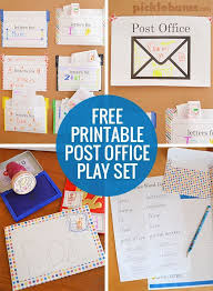 post office play free printable play set