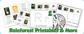 rainforest printables and more 1 1 1 u003d1