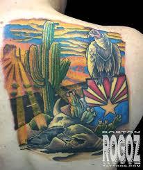 arizona desert scene tattoo by boston rogoz tattoonow
