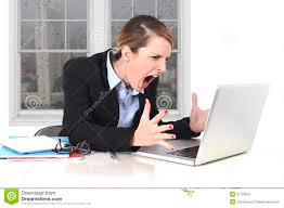 Office Work Images Young Businesswoman Angry In Stress At Office Working On Computer