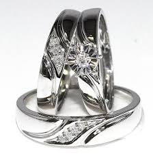 wedding trio sets trio wedding ring set moritz flowers