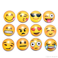 emoticon magnetic stickers many styles crystal glass qq emoji