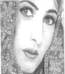twinkle khanna beautiful look sketch painting photo bollywood