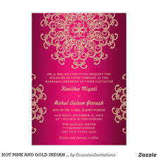 wedding invitation india hot pink and gold indian style wedding invitation invites