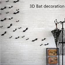 Diy Halloween Wall Decorations Halloween Wall Decor Batman Wall Decor 3d Bat Decal Arrival Red