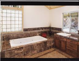 Travertine Bathtub Bathroom Floor Design Excellent Bathroom Decoration Using