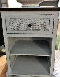 Wicker Nightstands For Sale Wicker Drawer Dresser 6 Drawers Dove Gray Chalkpaint Finish