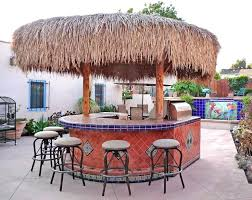 Backyard Island Ideas Backyard Palapa Style Island Barbeque Using Mexican Tiles By