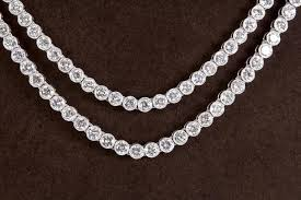 new diamond necklace images Two row diamond platinum tennis necklace for sale at 1stdibs jpg
