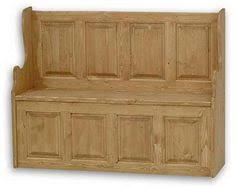 our beautiful hungarian small settle storage bench is steeped with