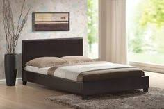 leonardo queen pu leather curved bed frame in black buy new