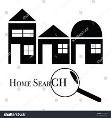 vector iconlogo illustration home search function stock vector