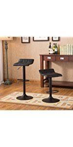 Bar Stool Sets Of 2 Amazon Com Roundhill Swivel Pu Leather Adjustable Hydraulic Bar