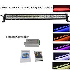Led Work Light Bar by Straight 180w 32inch Led Work Light Bar With Rgb Halo Ring Spot