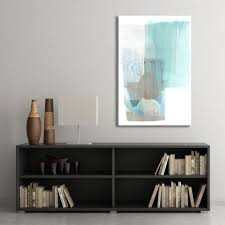 large canvas art abstract canvas wall art pale aqua blue and
