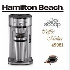 Hamilton Beach The Scoop Single Serve Coffee Maker Stainless