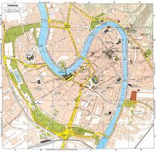 Ryanair Route Map by Verona Mappa Del Centro Storico 1 13000 993 967 Maps Plans