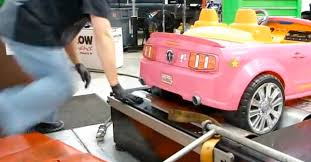 pink power wheels mustang dynoing power wheels