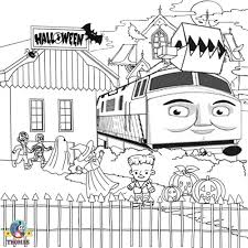 diesel 10 thomas train coloring free halloween pictures
