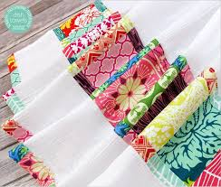 kitchen towel craft ideas scrappy patchwork flour sack dish towels sew4home kitchen