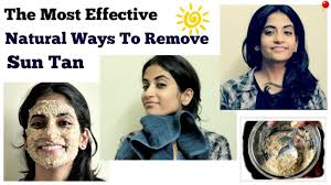 chemical tan most effective ways to remove sun tan from face naturally youtube