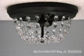 Home Lighting Design Tutorial Remodelaholic Update A Dome Ceiling Light With Faceted Crystals