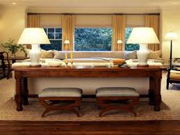 christmas decorations for sofa table console table behind sofa great uses for that awkward space the