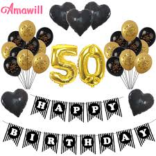 birthday balloons for men amawill cheers 50th birthday gold 32inch number balloons happy 50