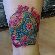 17 best sugar skull flower tattoo designs images on pinterest