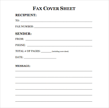 Free Printable Fax Cover Sheet Template Fax Cover Sheet Template Sle Blank Fax Cover Sheet Template