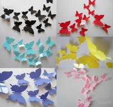 3d butterfly wall stickers home decor sticker on the art wall