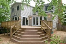 wood porch steps ideas farmhouse front steps big wide front porch