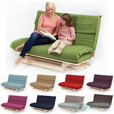 double 2 3 seater textured fabric wood futon base u0026 foam