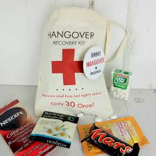 hangover recovery kit bag by tailored chocolates and gifts