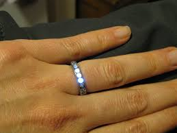 engineer designs builds light up engagement ring