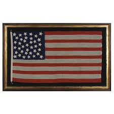 American Flag Rugs Jeff Bridgman Antique Flags And Painted Furniture 37 Stars In A