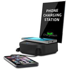 Small Charging Station by Charging Hub With Wireless Pad Chargetech