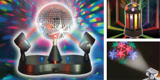 lights disco lights fog machines city