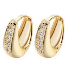 design of earrings fashion design 24k gold filled aaa cubic zircon hoop earrings 2016