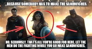 Batman Superman Meme - because somebody has to make the sandwiches batman v superman