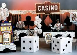Las Vegas Theme Party Decorations - casino party decoration with large cardboard box dices casino