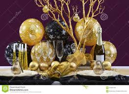 New Year S Eve Table Decorations by New Years Eve Dinner Table Setting Stock Photo Image 64054126