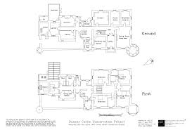 original plans of dunans castle or at least how we think the
