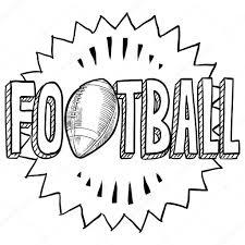 american football sketch u2014 stock vector lhfgraphics 18320513
