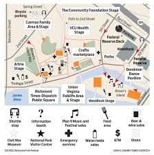 Marcus Amphitheater Map Richmond Folk Festival Parking And Map Info Entertainment