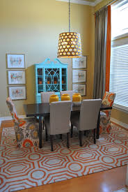 Grey Dining Room by Other Orange And Grey Dining Room Remarkable On Other For Round