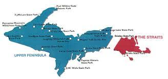 peninsula michigan map map of the peninsula state parks