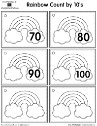 rainbow skip counting by 5s and 10s a to z teacher stuff