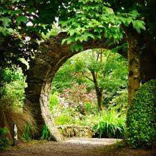 through the wall at knockpatrick gardens co limerick ireland