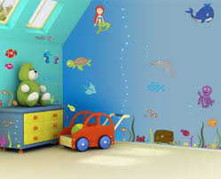 wall art for kids bedrooms enhancing the family togetherness children bedroom wall art idea with under sea theme